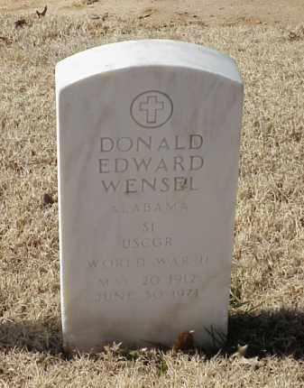 WENSEL (VETERAN WWII), DONALD EDWARD - Pulaski County, Arkansas | DONALD EDWARD WENSEL (VETERAN WWII) - Arkansas Gravestone Photos