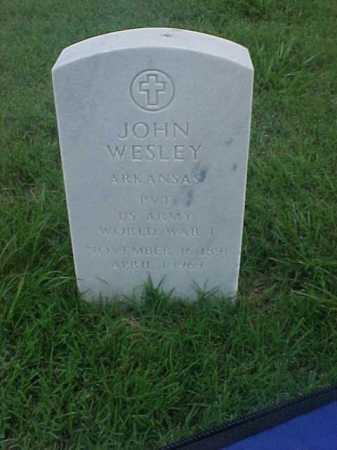 WESLEY (VETERAN WWI), JOHN - Pulaski County, Arkansas | JOHN WESLEY (VETERAN WWI) - Arkansas Gravestone Photos