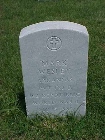 WESLEY (WWI), MARK - Pulaski County, Arkansas | MARK WESLEY (WWI) - Arkansas Gravestone Photos