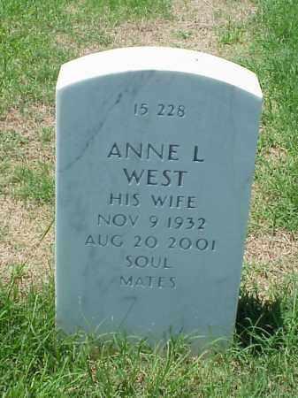 WEST, ANNE L - Pulaski County, Arkansas | ANNE L WEST - Arkansas Gravestone Photos