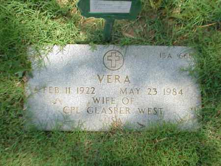WEST, VERA - Pulaski County, Arkansas | VERA WEST - Arkansas Gravestone Photos