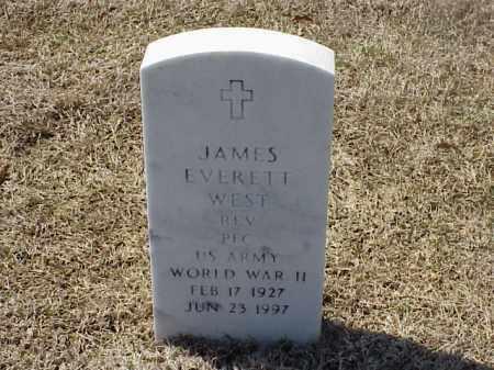 WEST (VETERAN WWII), JAMES EVERETT - Pulaski County, Arkansas   JAMES EVERETT WEST (VETERAN WWII) - Arkansas Gravestone Photos