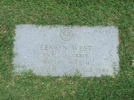 WEST (VETERAN WWII), LEMON - Pulaski County, Arkansas | LEMON WEST (VETERAN WWII) - Arkansas Gravestone Photos