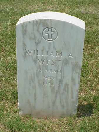 WEST (VETERAN WWII), WILLIAM A - Pulaski County, Arkansas | WILLIAM A WEST (VETERAN WWII) - Arkansas Gravestone Photos
