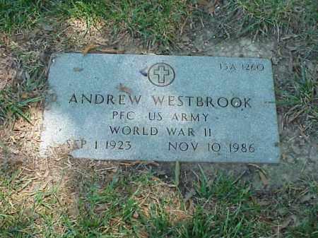WESTBROOK (VETERAN WWII), ANDREW - Pulaski County, Arkansas | ANDREW WESTBROOK (VETERAN WWII) - Arkansas Gravestone Photos