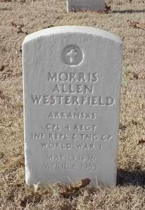 WESTERFIELD (VETERAN WWI), MORRIS ALLEN - Pulaski County, Arkansas   MORRIS ALLEN WESTERFIELD (VETERAN WWI) - Arkansas Gravestone Photos