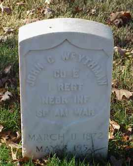 WEYTHMAN (VETERAN SAW), JOHN C - Pulaski County, Arkansas | JOHN C WEYTHMAN (VETERAN SAW) - Arkansas Gravestone Photos