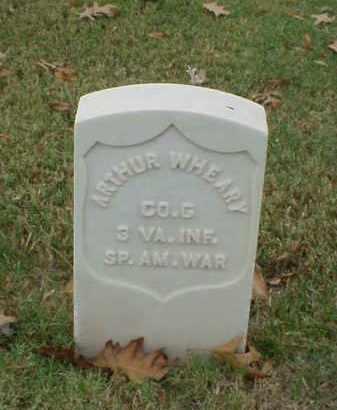 WHEARY (VETERAN SAW), ARTHUR - Pulaski County, Arkansas | ARTHUR WHEARY (VETERAN SAW) - Arkansas Gravestone Photos