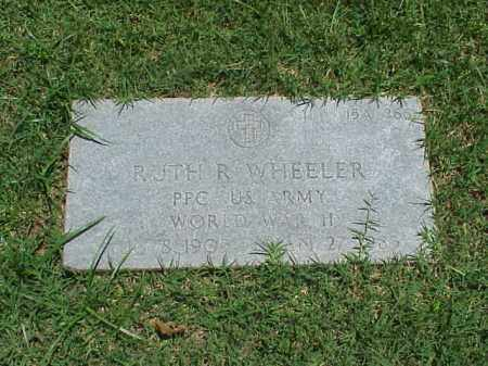 WHEELER (VETERAN WWII), RUTH R - Pulaski County, Arkansas   RUTH R WHEELER (VETERAN WWII) - Arkansas Gravestone Photos