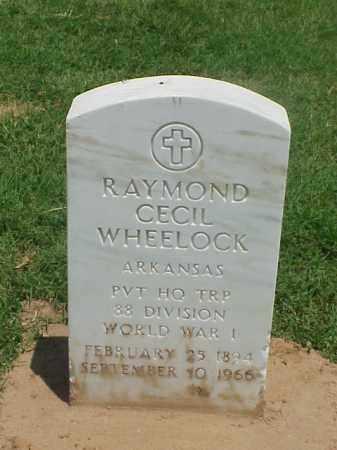 WHEELOCK (VETERAN WWI), RAYMOND CECIL - Pulaski County, Arkansas | RAYMOND CECIL WHEELOCK (VETERAN WWI) - Arkansas Gravestone Photos