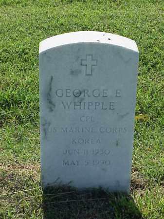 WHIPPLE (VETERAN KOR), GEORGE E - Pulaski County, Arkansas   GEORGE E WHIPPLE (VETERAN KOR) - Arkansas Gravestone Photos