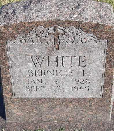 WHITE, BERNICE T - Pulaski County, Arkansas   BERNICE T WHITE - Arkansas Gravestone Photos