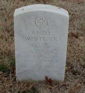 WHITE, SR  (VETERAN WWI), ANDY - Pulaski County, Arkansas   ANDY WHITE, SR  (VETERAN WWI) - Arkansas Gravestone Photos