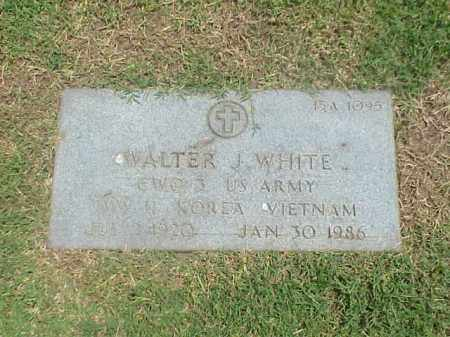 WHITE (VETERAN 3 WARS), WALTER J - Pulaski County, Arkansas | WALTER J WHITE (VETERAN 3 WARS) - Arkansas Gravestone Photos