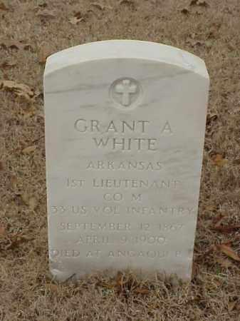 WHITE (VETERAN), GRANT A - Pulaski County, Arkansas | GRANT A WHITE (VETERAN) - Arkansas Gravestone Photos