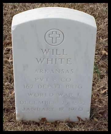 WHITE (VETERAN WWI), WILL - Pulaski County, Arkansas | WILL WHITE (VETERAN WWI) - Arkansas Gravestone Photos