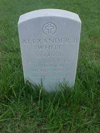 WHITE (VETERAN WWI), ALEXANDER B - Pulaski County, Arkansas | ALEXANDER B WHITE (VETERAN WWI) - Arkansas Gravestone Photos