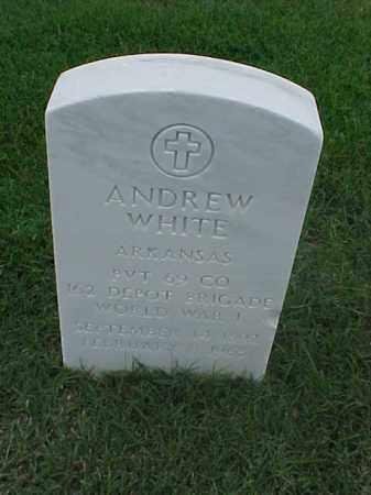 WHITE (VETERAN WWI), ANDREW - Pulaski County, Arkansas | ANDREW WHITE (VETERAN WWI) - Arkansas Gravestone Photos
