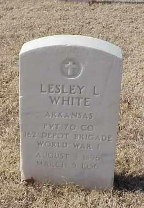WHITE (VETERAN WWI), LESLEY L - Pulaski County, Arkansas | LESLEY L WHITE (VETERAN WWI) - Arkansas Gravestone Photos