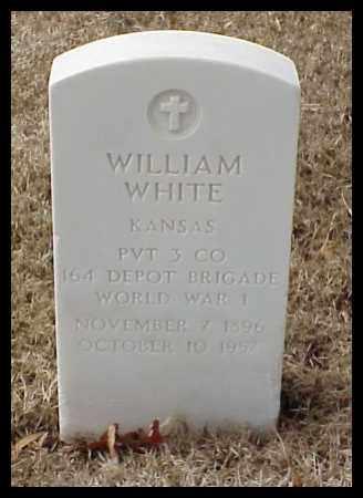 WHITE (VETERAN WWI), WILLIAM - Pulaski County, Arkansas   WILLIAM WHITE (VETERAN WWI) - Arkansas Gravestone Photos