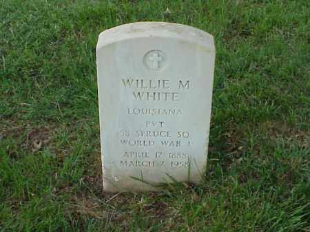 WHITE (VETERAN WWI), WILLIE M - Pulaski County, Arkansas | WILLIE M WHITE (VETERAN WWI) - Arkansas Gravestone Photos