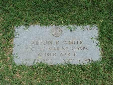 WHITE (VETERAN WWII), ALTON D - Pulaski County, Arkansas | ALTON D WHITE (VETERAN WWII) - Arkansas Gravestone Photos