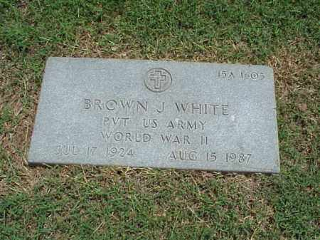 WHITE (VETERAN WWII), BROWN J - Pulaski County, Arkansas | BROWN J WHITE (VETERAN WWII) - Arkansas Gravestone Photos