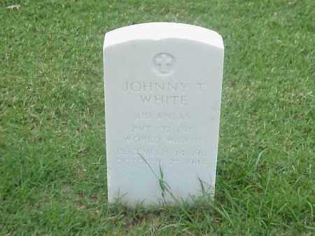WHITE (VETERAN WWII), JOHNNY T - Pulaski County, Arkansas   JOHNNY T WHITE (VETERAN WWII) - Arkansas Gravestone Photos