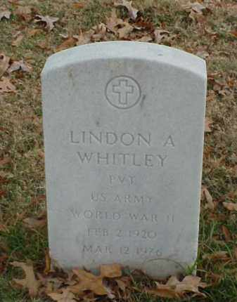 WHITLEY (VETERAN WWII), LINDON A - Pulaski County, Arkansas | LINDON A WHITLEY (VETERAN WWII) - Arkansas Gravestone Photos