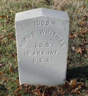 WHITMAN (VETERAN CSA), RUFUS DAWSON - Pulaski County, Arkansas   RUFUS DAWSON WHITMAN (VETERAN CSA) - Arkansas Gravestone Photos