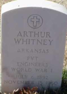 WHITNEY  (VETERAN WWI), ARTHUR - Pulaski County, Arkansas   ARTHUR WHITNEY  (VETERAN WWI) - Arkansas Gravestone Photos