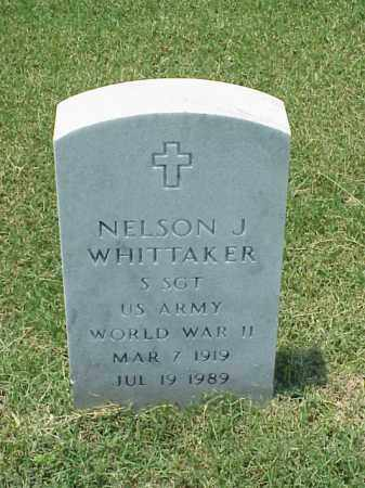 WHITTAKER (VETERAN WWII), NELSON J - Pulaski County, Arkansas   NELSON J WHITTAKER (VETERAN WWII) - Arkansas Gravestone Photos