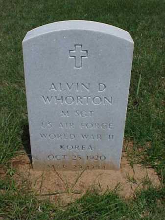 WHORTON (VETERAN 2 WARS), ALVIN D - Pulaski County, Arkansas   ALVIN D WHORTON (VETERAN 2 WARS) - Arkansas Gravestone Photos