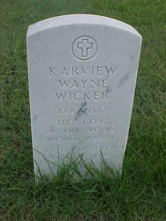 WICKER (VETERAN WWII), KARVIEW WAYNE - Pulaski County, Arkansas   KARVIEW WAYNE WICKER (VETERAN WWII) - Arkansas Gravestone Photos