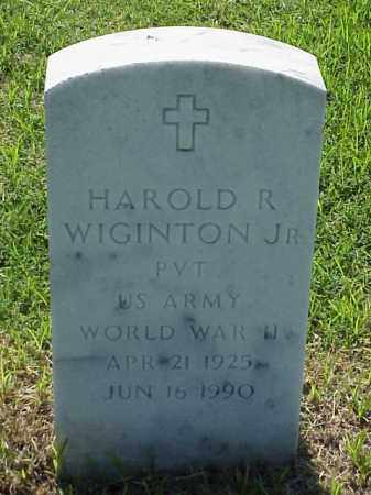WIGINTON, JR (VETERAN WWII), HAROLD R - Pulaski County, Arkansas | HAROLD R WIGINTON, JR (VETERAN WWII) - Arkansas Gravestone Photos