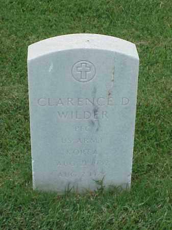 WILDER (VETERAN KOR), CLARENCE D - Pulaski County, Arkansas   CLARENCE D WILDER (VETERAN KOR) - Arkansas Gravestone Photos