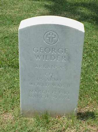 WILDER (VETERAN WWII), GEORGE - Pulaski County, Arkansas   GEORGE WILDER (VETERAN WWII) - Arkansas Gravestone Photos