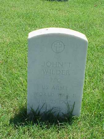 WILDER (VETERAN WWII), JOHN T - Pulaski County, Arkansas   JOHN T WILDER (VETERAN WWII) - Arkansas Gravestone Photos