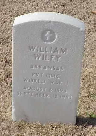 WILEY (VETERAN WWI), WILLIAM - Pulaski County, Arkansas | WILLIAM WILEY (VETERAN WWI) - Arkansas Gravestone Photos