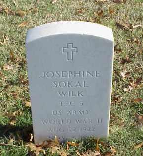 SOKAL WILK (VETERAN WWII), JOSEPHINE - Pulaski County, Arkansas   JOSEPHINE SOKAL WILK (VETERAN WWII) - Arkansas Gravestone Photos