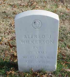 WILKERSON (VETERAN WWI), ALFRED J - Pulaski County, Arkansas | ALFRED J WILKERSON (VETERAN WWI) - Arkansas Gravestone Photos