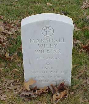 WILKINS  (VETERAN WWII), MARSHALL WILEY - Pulaski County, Arkansas | MARSHALL WILEY WILKINS  (VETERAN WWII) - Arkansas Gravestone Photos