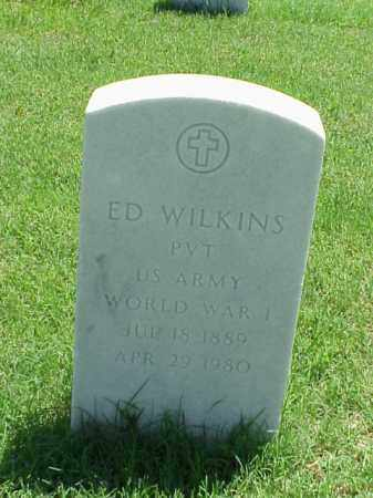 WILKINS (VETERAN WWI), ED - Pulaski County, Arkansas | ED WILKINS (VETERAN WWI) - Arkansas Gravestone Photos
