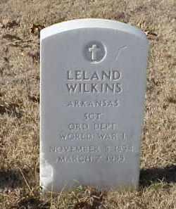 WILKINS (VETERAN WWI), LELAND - Pulaski County, Arkansas   LELAND WILKINS (VETERAN WWI) - Arkansas Gravestone Photos