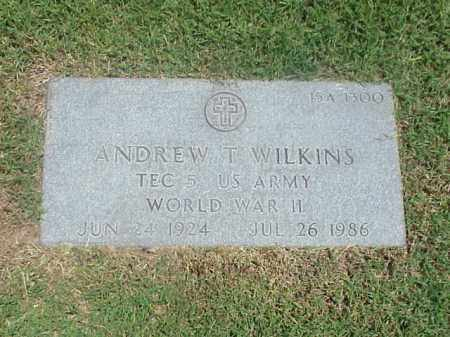 WILKINS (VETERAN WWII), ANDREW T - Pulaski County, Arkansas | ANDREW T WILKINS (VETERAN WWII) - Arkansas Gravestone Photos