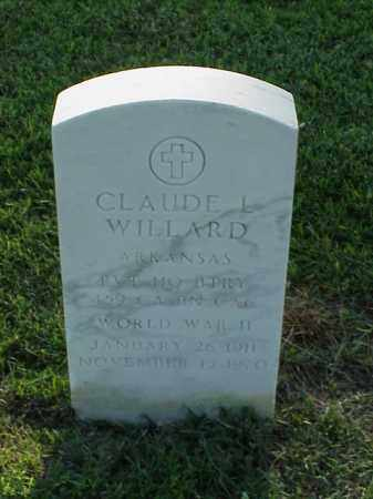 WILLARD (VETERAN WWII), CLAUDE L - Pulaski County, Arkansas   CLAUDE L WILLARD (VETERAN WWII) - Arkansas Gravestone Photos