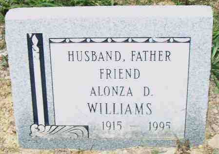 WILLIAMS, ALONZO D. - Pulaski County, Arkansas | ALONZO D. WILLIAMS - Arkansas Gravestone Photos