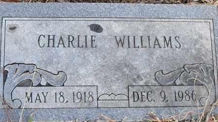 WILLIAMS, CHARLIE - Pulaski County, Arkansas | CHARLIE WILLIAMS - Arkansas Gravestone Photos