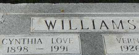 LOVE WILLIAMS, CYNTHIA - Pulaski County, Arkansas | CYNTHIA LOVE WILLIAMS - Arkansas Gravestone Photos