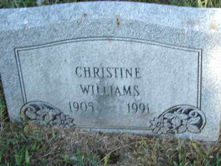 WILLIAMS, CHRISTINE - Pulaski County, Arkansas | CHRISTINE WILLIAMS - Arkansas Gravestone Photos